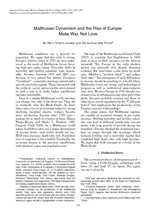 248American Economic Review: Papers & Proceedings 2009, 99:2, 248–