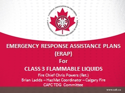 EMERGENCY RESPONSE ASSISTANCE PLANS