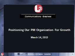 Positioning Our PM Organization For Growth
