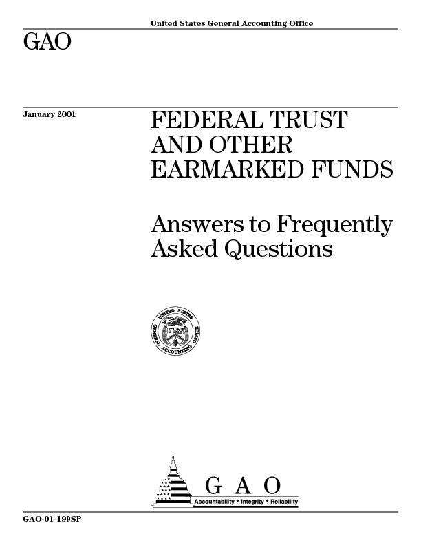 Page 1GAO-01-199SP Trust Fund FAQs