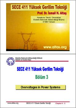 Chapter    Chapter    Overvoltages in Power Systems Overvoltages in Power Systems  Chapter    INTRODUCTION Overvoltages in Power Systems Chapter    TYPES OF OVERVOLTAGE Overvoltages in Power Systems