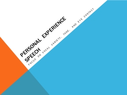 Personal Experience Speech PowerPoint PPT Presentation