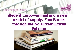 Student Empowerment and a new model of supply: Free Books t