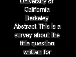 Is Versus NP Formally Independent Scott Aaronson University of California Berkeley Abstract This is a survey about the title question written for people who like the author see logic as for bidding e