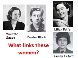 What links these women? PowerPoint PPT Presentation