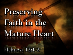 Preserving Faith in the Mature Heart