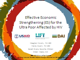 Effective Economic Strengthening (ES) for the