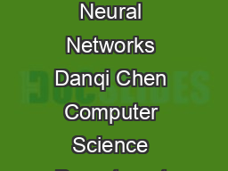A Fast and Accurate Dependency Parser using Neural Networks Danqi Chen Computer Science Department Stanford University danqics