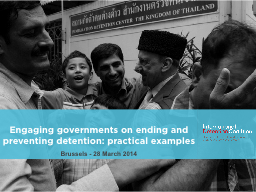Engaging governments on ending and preventing detention: pr