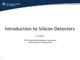 Introduction to Silicon Detectors