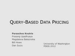 Query-Based Data Pricing