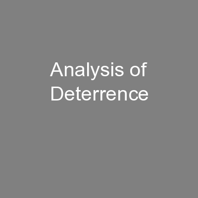 Analysis of Deterrence PowerPoint PPT Presentation