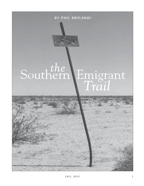 THE SOUTHERN EMIGRANT TRAILFALL 2010