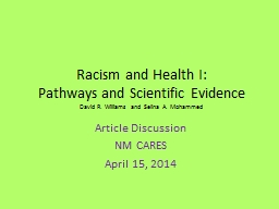 Racism and Health I: PowerPoint PPT Presentation
