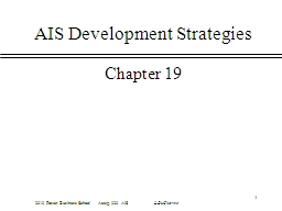 1 AIS Development Strategies PowerPoint PPT Presentation