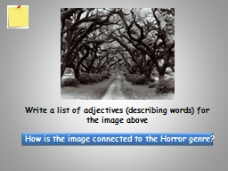 Write a list of adjectives (describing words) for the image