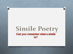 Simile Poetry