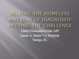 Helping the Homeless and dually diagnosed: meeting the chal