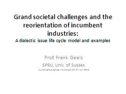 Grand societal challenges and the reorientation of incumben
