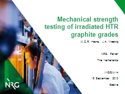 Mechanical strength testing of irradiated HTR graphite grad PowerPoint PPT Presentation
