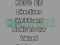 CO GaspH Controller MA  CO pH Controller Users Manual Publication REVC  EU Directives WEEE and RoHS To Our Valued Customers We are committed to being a good corporate citizen