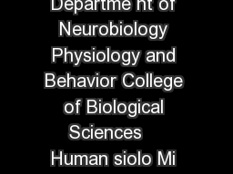 Huma Physiology Minor Departme nt of Neurobiology Physiology and Behavior College of Biological Sciences    Human siolo Mi or Requir ments Total