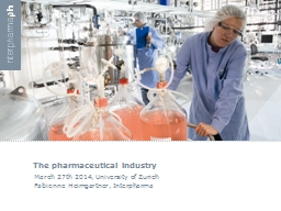 The pharmaceutical industry PowerPoint PPT Presentation