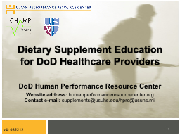 Dietary Supplement Education for