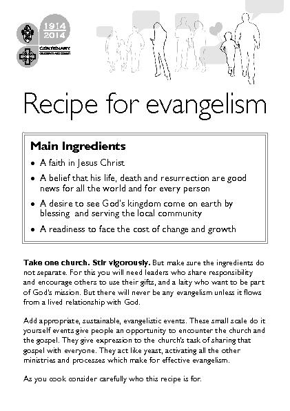 Take one church. Stir vigorously. But make sure the ingredients do not PowerPoint PPT Presentation