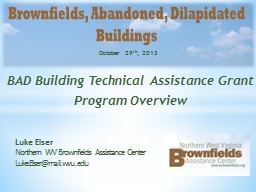 BAD Building Technical Assistance Grant