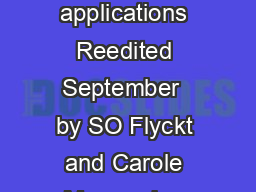 PHOTOMULTIPLIER TUBES principles  applications Reedited September  by SO Flyckt and Carole Marmonier  Photonis Brive France Email so