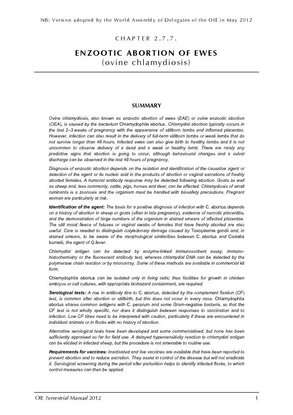NB: Version adopted by the World Assembly of Delegates of the OIE in M