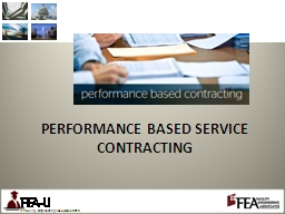 PERFORMANCE BASED SERVICE  CONTRACTING PowerPoint PPT Presentation