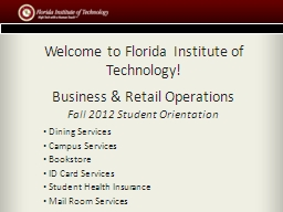 Welcome to Florida Institute of Technology!