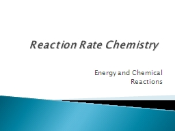 Reaction Rate Chemistry