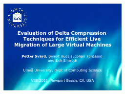 Evaluation of Delta Compression Techniques for Efficient Li