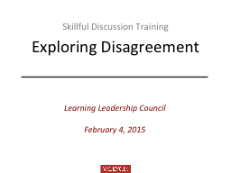 Skillful Discussion Training