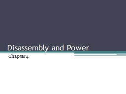 Disassembly and PowerPoint PPT Presentation