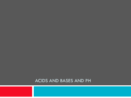 Acids and Bases and pH PowerPoint Presentation, PPT - DocSlides