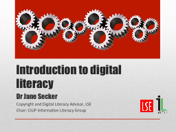 Introduction to digital literacy