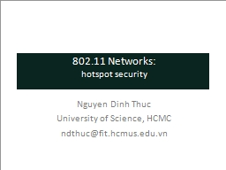 802.11 Networks: