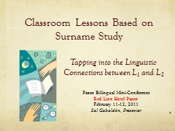 Classroom Lessons Based on Surname Study