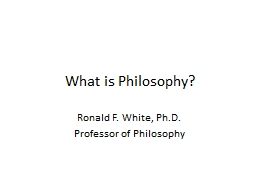 What is Philosophy? PowerPoint PPT Presentation