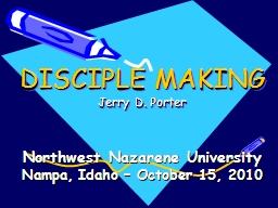DISCIPLE MAKING PowerPoint PPT Presentation