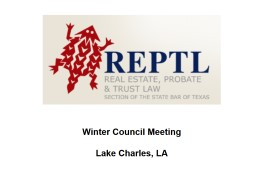 Winter Council Meeting