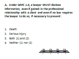 A .  Under GRPC 1.6, a lawyer MUST disclose information, ev