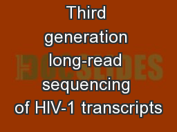 Third generation long-read sequencing of HIV-1 transcripts