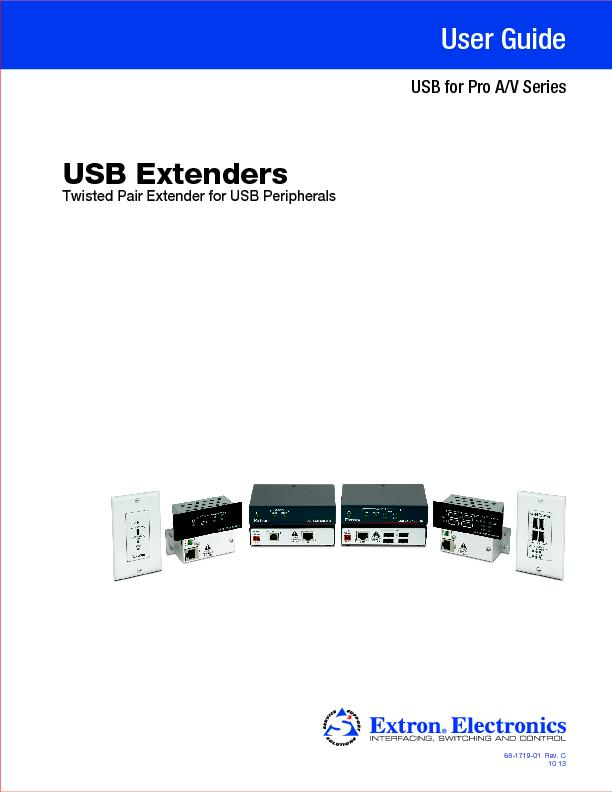 Twisted Pair Extender for USB PeripheralsUSB Extenders