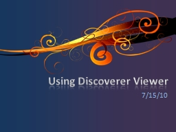 Using Discoverer Viewer