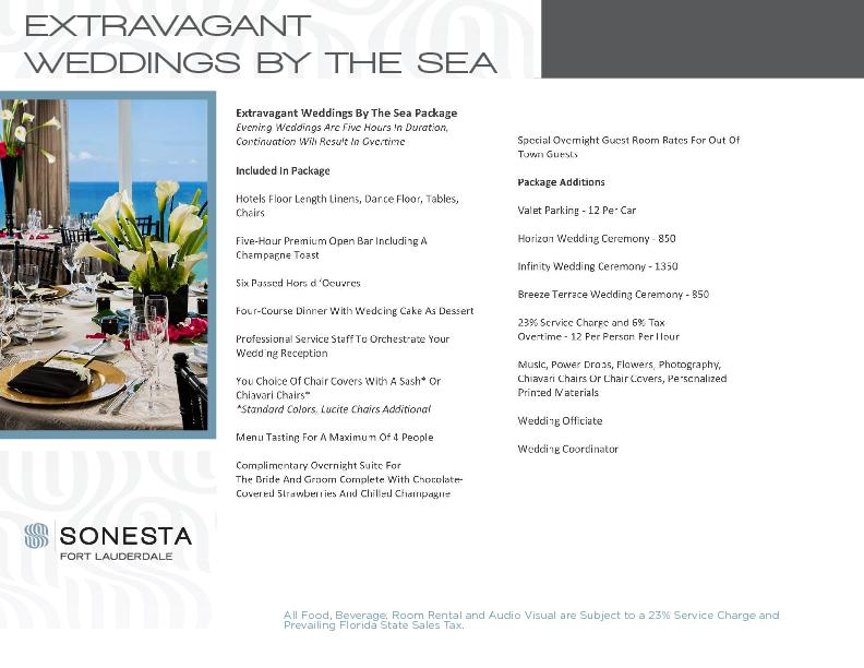 EXTRAVAGANT WEDDINGS BY THE SEA
